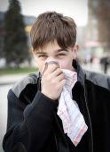 Teenager with Handkerchief — Stock Photo