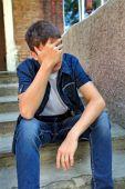 Sorrowful Young Man — Stock Photo