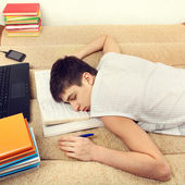 Student sleeping on Sofa — Stock Photo