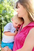 Mother and Tired Child — Stock Photo