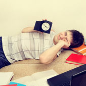 Tired Teenager on Sofa — Stock Photo