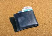 Wallet on the Sand — Stock Photo