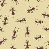 Brown ants background — Stock Vector