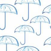 Umbrellas seamless pattern — Stock Vector