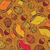 Autumn leaf background. — Stock Vector