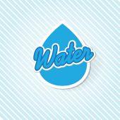 Water drop sign — Stock Vector