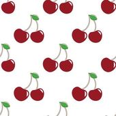 Pattern with cherry — Stock Vector