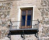 Window with balcony — Stock Photo
