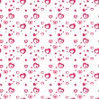 Seamless stylish pattern with black hearts. — Stock Vector #60602507