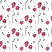Little Rose seamless background. — Stock Vector