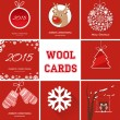 Christmas cards set — Stock Vector #60620323