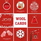 Weihnachtskarten-set — Stockvektor