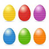 Easter eggs set — Stock Vector