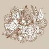 Beige floral background — Stock Vector