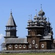 Old Russian wooden Church, the Church in the field, a wonderful rustic look, the background. — Stock Photo #63060807