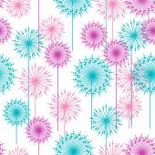 Seamless pattern with abstract  dehlia flowers. — Stock Vector