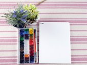 The composition of the artist, calligrapher, album brush — Stock Photo