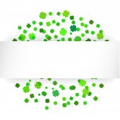 Celebration background with green confetti — Stock Vector