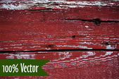 Wooden texture background. Vector illustration of red painted wood plank wall — Stock Vector