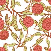 Pattern with rose flowers. — Stock Vector