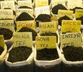 Different tea flavors found in flea market, India — Stock Photo