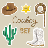 Cowboy poster. Wild west background for your design. — Stock Vector