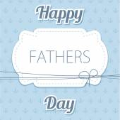 Happy Father's Day. Vector card with wine glasses on seamless chevron pattern. — Stock Vector