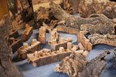 Korkové, dřevěné a korkové pro víno — Stock fotografie