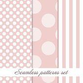 Set Seamless polka dot  vintage pattern — Stock Vector