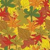 Vintage abstract autumn leaves pattern — Stock Vector