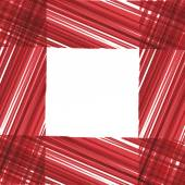 Abstract vector frame. Red stripes design. — Stock Vector