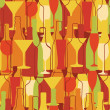 Seamless background with wine bottles and glasses — Stock Vector #81143960