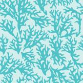 Vector seamless pattern with blue coral. Good for textile, wallpapers, paper. — Stock Vector