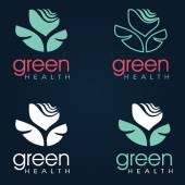 Floral symbol of spa. Logo. Vector Icon — Stock Vector
