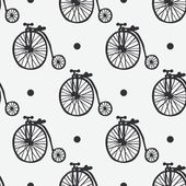 Hand drawn bicycles vector seamless pattern — Stock Vector