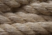 Roll of ship ropes as background texture — Stock Photo