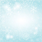 Abstract silver christmas  card. Christmas Snowflake on abstract background. — Stock Vector