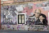 Mural to Saramago — Stock Photo