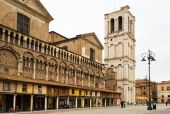 Ferrara Cathedral Campanile — Stock Photo