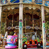 Colorful Carousel or Merry-Go-Round — Stock Photo