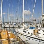 Yachts mooring in the Marina of Saint Tropez. — Stock Photo #70239967