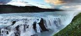 Waterfall in Iceland. Gullfoss. — Stock Photo