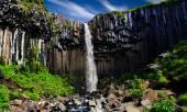 Svartifoss. Black waterfall. — Stock Photo