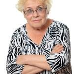 Senior woman in glasses — Stock Photo #70389235