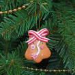 Vintage decorations on Christmas tree — Stock Photo #70388663