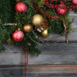 Vintage decorations on Christmas tree — Stock Photo #70388941
