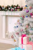Christmas living room decoration — Stock Photo