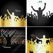 Banery reklamowe na mistrzostwa sportowe i koncerty — Wektor stockowy