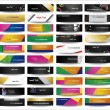 Big collection advertising banners on different topics. — Stock Vector #54896887