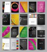 Big collection advertising posters on different topics. — Vector de stock